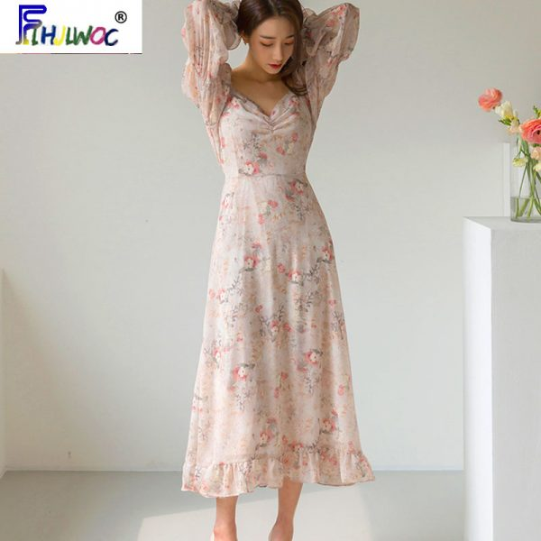 Chic Dress, Elegant Dresses, Floral Dress, French Dresses, Long Dresses, Romantic Dresses