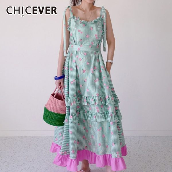 Print Hit Color Dress Women Square Collar Sleeveless High Waist Lace Up Patchwork Ruffle Oversize Maxi Dresses Female Size Details: Ruffle Oversize Maxi Dresses How to Measure: To choose the correct size for you to measure your body as follows How to Measure Dress Product specifications: Brand Name: CHICEVER Material: COTTON Material: Polyester Silhouette: A-Line Model Number: CDR22275 Season: Summer Neckline: Square Collar Sleeve Length(cm): Sleeveless Sleeve Style: Spaghetti Strap Gender: WOMEN Decoration: Ruffles Style: Office Lady Waistline: empire Pattern Type: Patchwork Dresses Length: Ankle-Length Wholesale: Yes, Discount How to Purchase: It is available in Lalbug.com only! To buy this product, select colour and size then click on the Add to Cart button. Purchase Protection: Shop with full confidence! Lalbug guarantees that it will ensure you deliver your products in time as described. You will get 100% refund if the product isn't received in guaranteed shipping and delivery time or see that it is not as described. Return Policy: If the product you receive is not as described or low quality, the seller promises that you may return it before order completion (when you click 'Confirm Order Received' or exceed confirmation time frame), receive a full refund, and that the return shipping fee will be paid by the seller. Details of the shipping method and fee payment should be agreed with the seller in advance. Or, you can choose to keep the product and agree with the refund amount directly with the seller. We are committed to providing the best customer services and quality products
