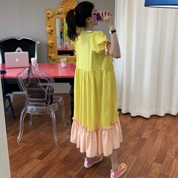 Ruffle Oversize Midi Dresses