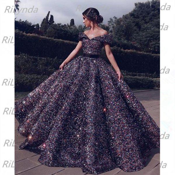 Sequins Long Evening Dresses