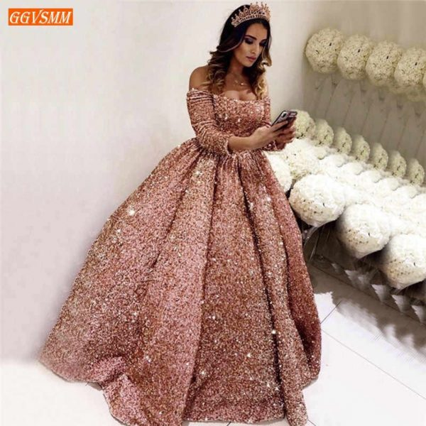Sequins Sparkle Prom Gowns