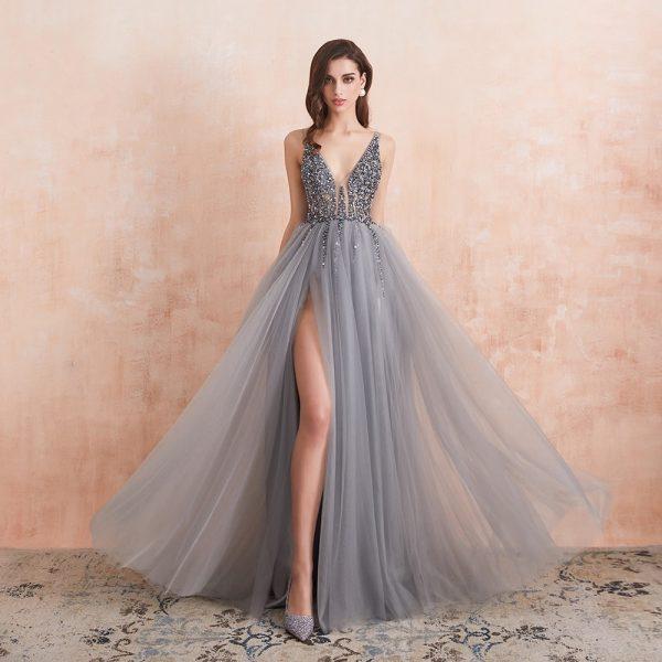 Sexy V-Neck Prom Dresses