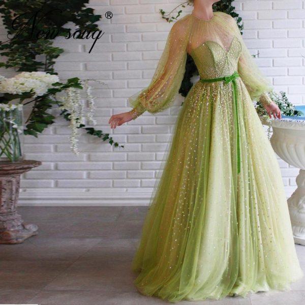 Shiny Mint Evening Dresses