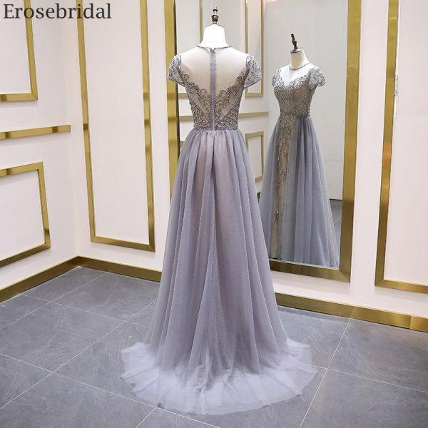 Short Sleeve Evening Dress