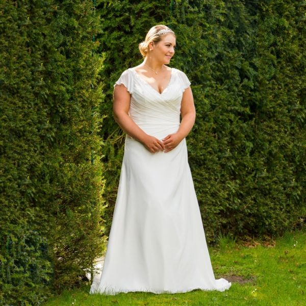 Short Sleeves Wedding Dresses
