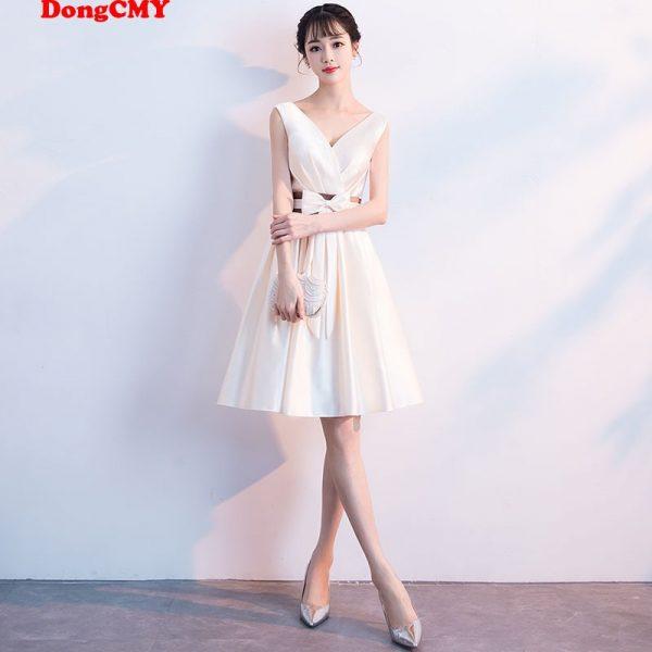Short V Neck Prom Dresses