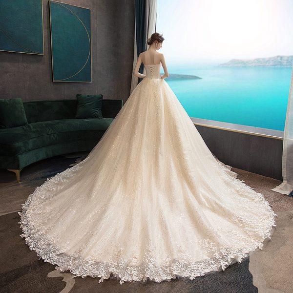 Strapless Sleeveless Wedding Dress
