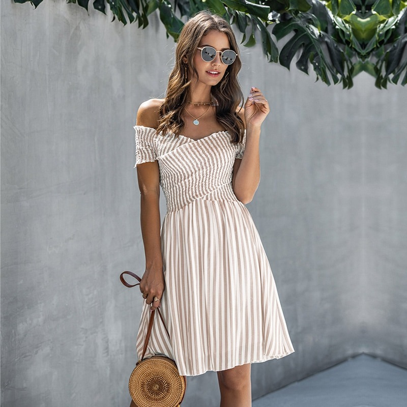 Summer Casual Striped Dress
