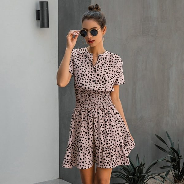Summer Print Button Dress