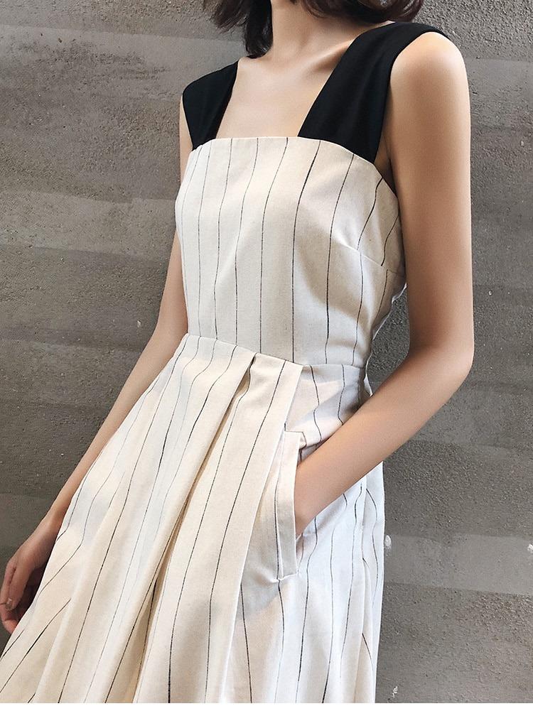 Summer Striped Female Sundress