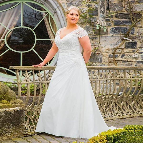 V Neck Bridal Gown