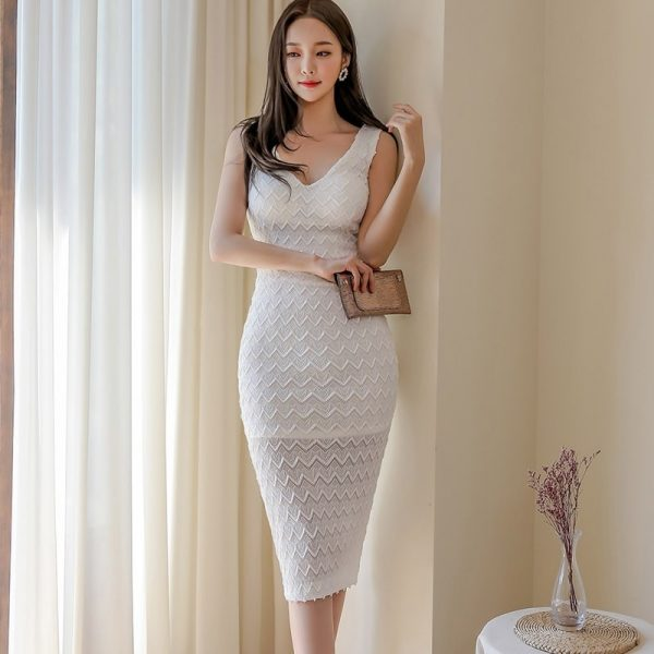 White Midi Dress for Women