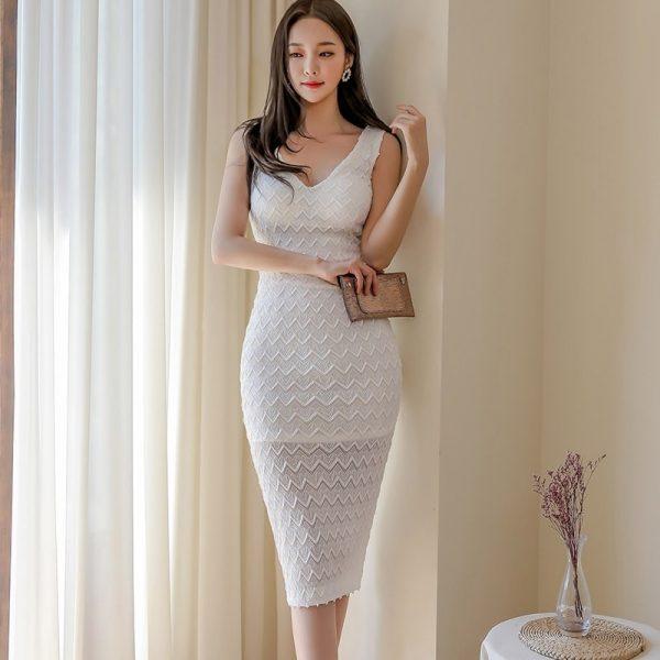 White Midi Dress for Women