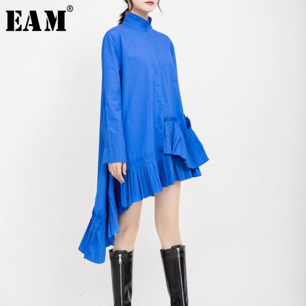 Women Asymmetrical Shirt Dress