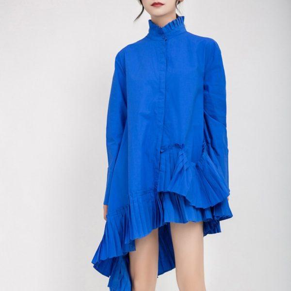 Women Asymmetrical Shirt Dress