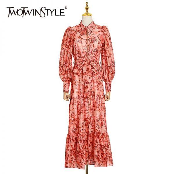 Elegant Print Women Dress