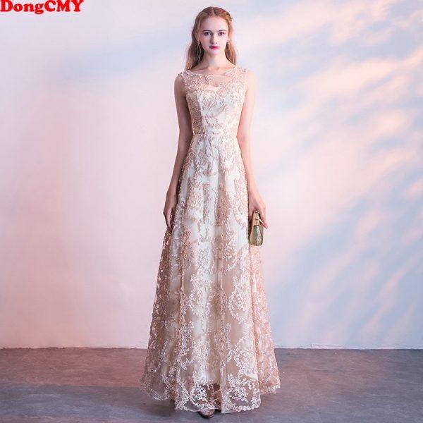 Long Champagne Prom Dresses