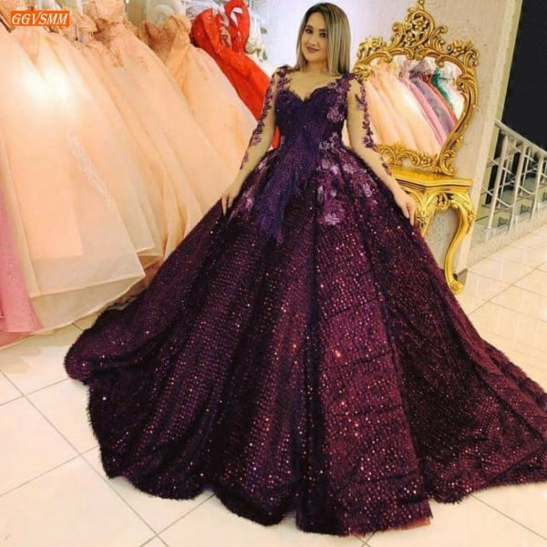 Luxury Sequins Ball Gown