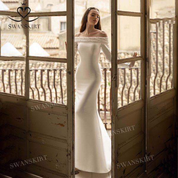 Mermaid Train Bridal Gown