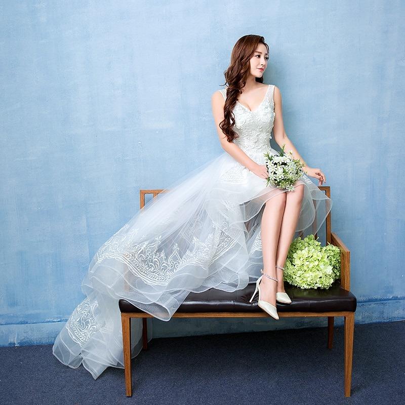 Sexy V Neck Wedding Dress