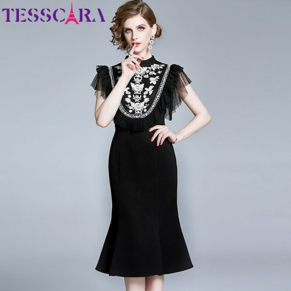 Summer Elegant Embroidery Dress