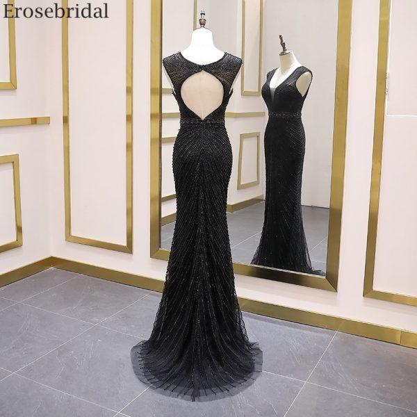 Beads Black Evening Dress