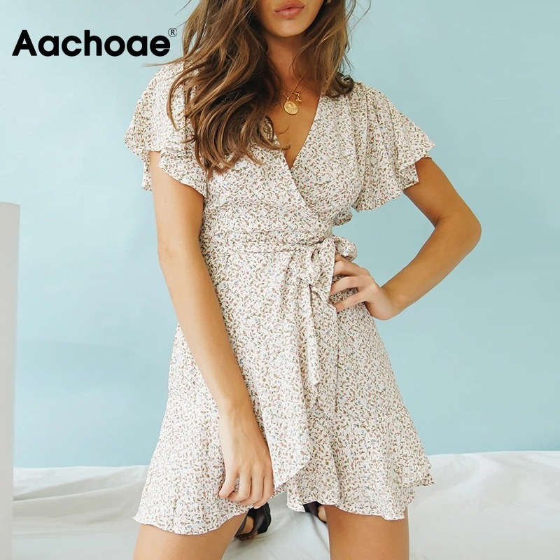 Boho Printed Mini Dress