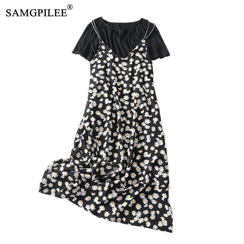 Casual Tshirt Print Dress