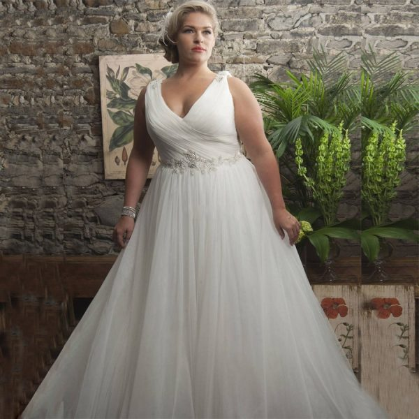 Classic Sleeveless Wedding Dress