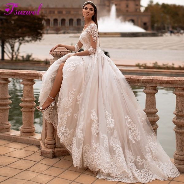 Elegant A-Line Wedding Dresses