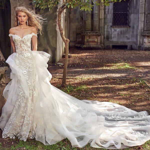 Flowers Mermaid Wedding Dresses