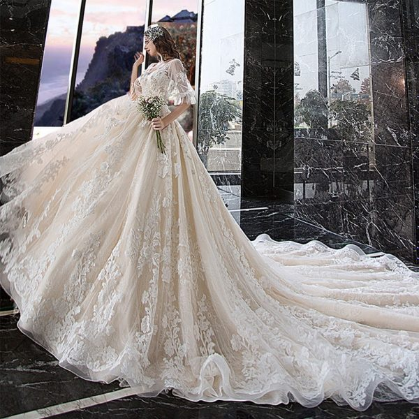 Lace Princess Ball Gown