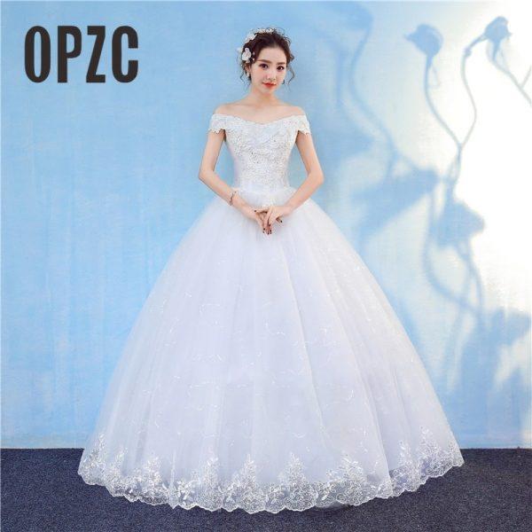 Lace White Wedding Dresses