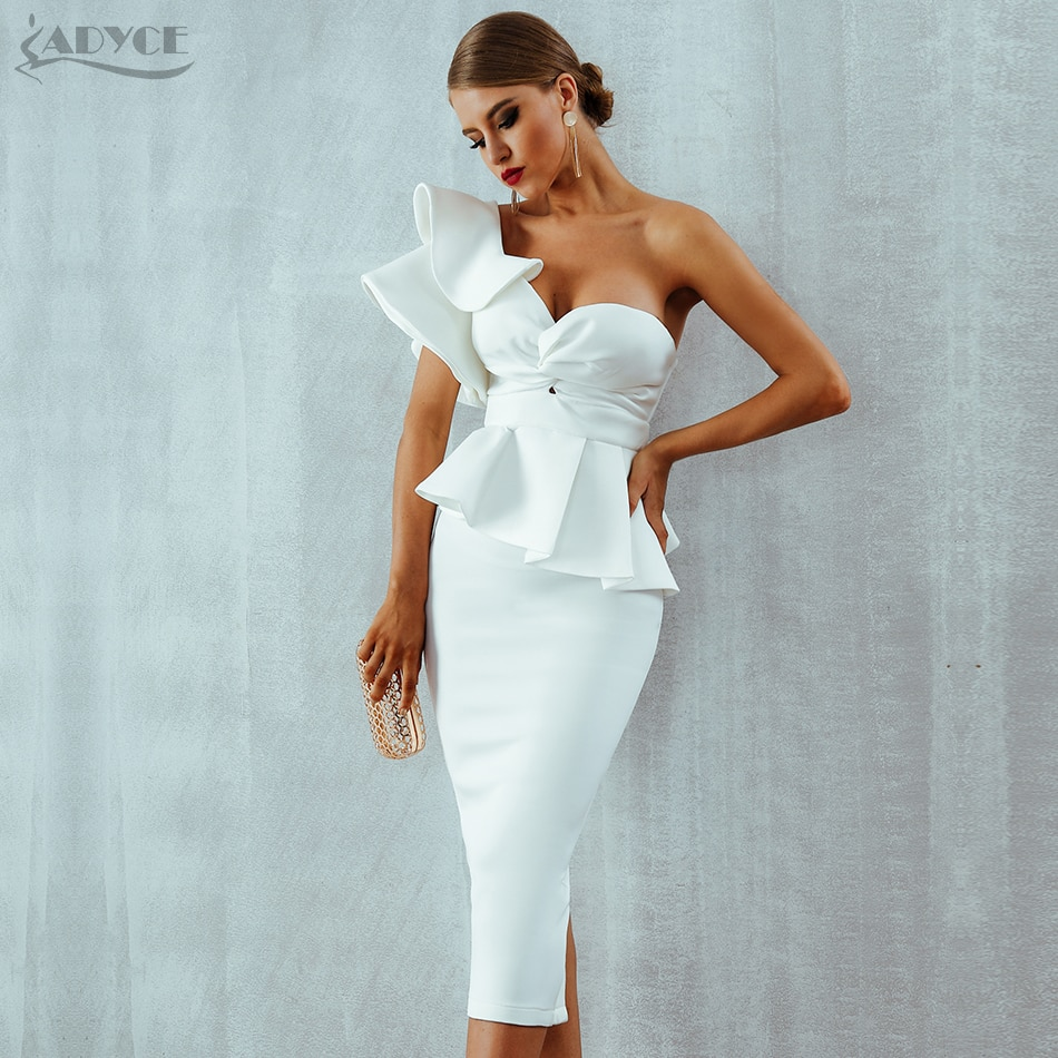 Ladies Celebrity Party Dress Sexy Strapless Club Dress