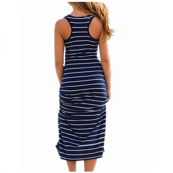 Maxi Long Dress Ladies Beach Vest Dress