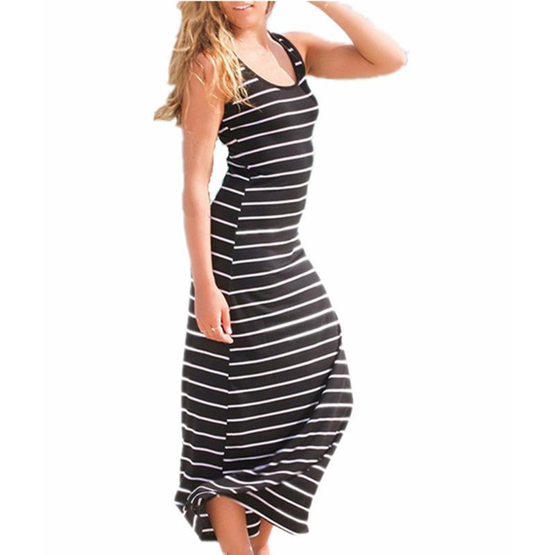 Maxi Long Dress Ladies Beach Vest Dress