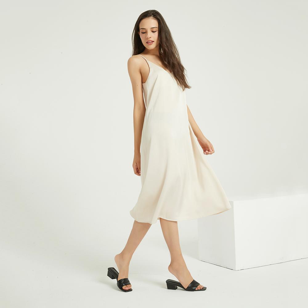Sexy Backless Satin Dress