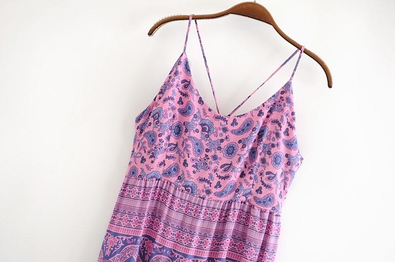 Sleeveless Strap Beach Dress