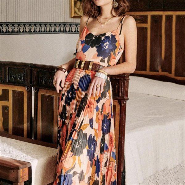 Sleeveless Summer Midi Dress