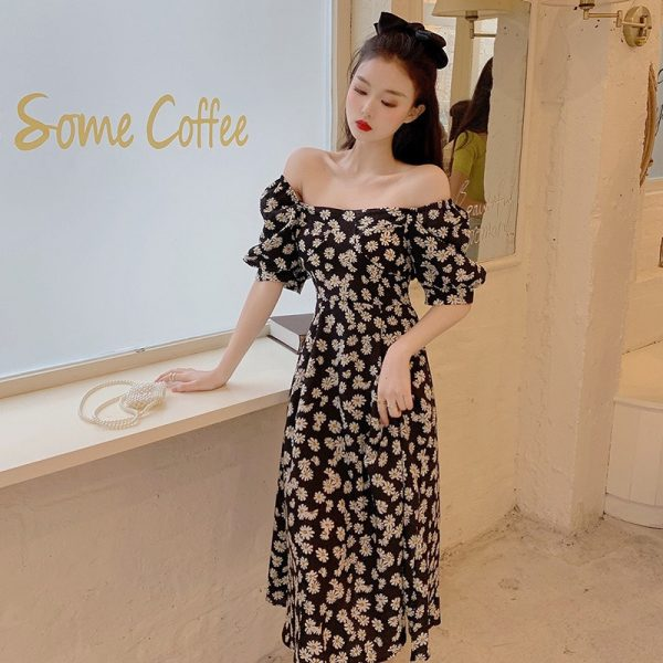Summer Daisy Print Dress