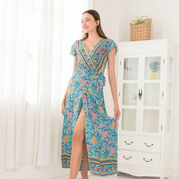 Women Floral Beach Dress