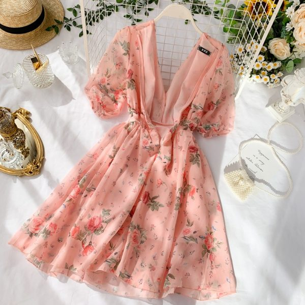 Chiffon Dress Summer Temperament