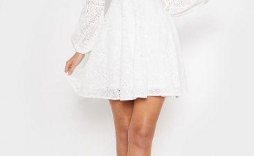 White Long Sleeve Dress